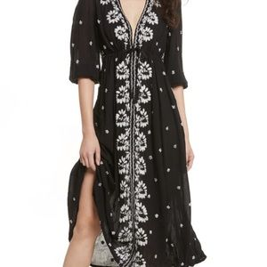 Free embroidered fable maxi dress medium